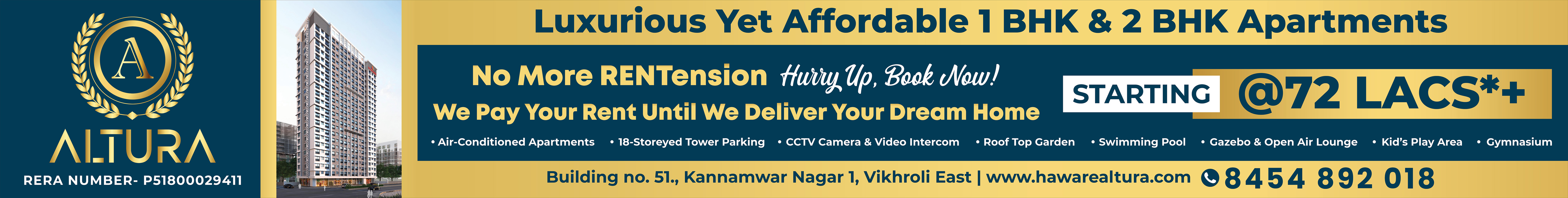 Luxurious Yet Affordable 1 BHK & 2 BHK Apartments