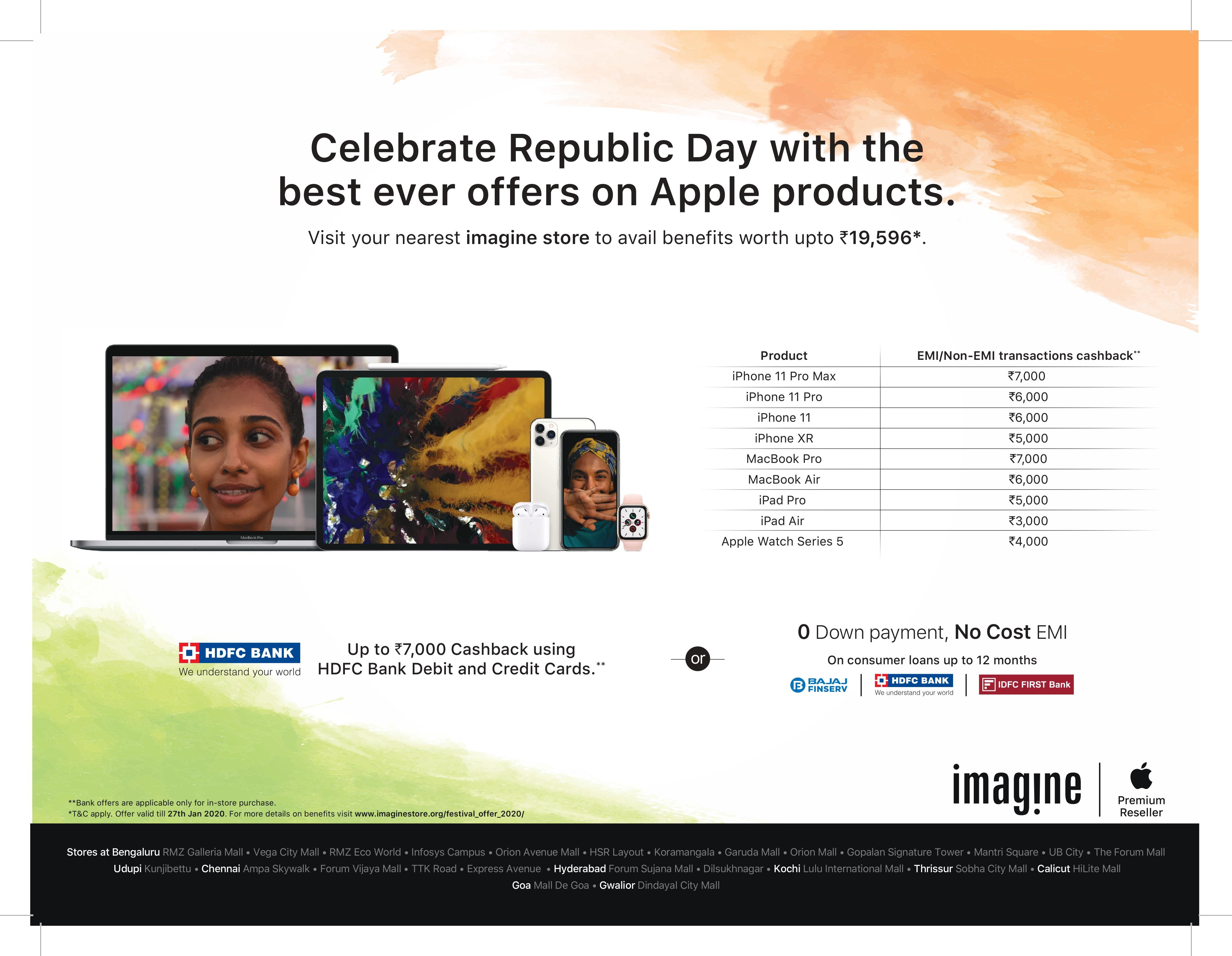 Apple | Republic Day | Celebrate Republic Day With The Best Ever Offers On Apple Products.