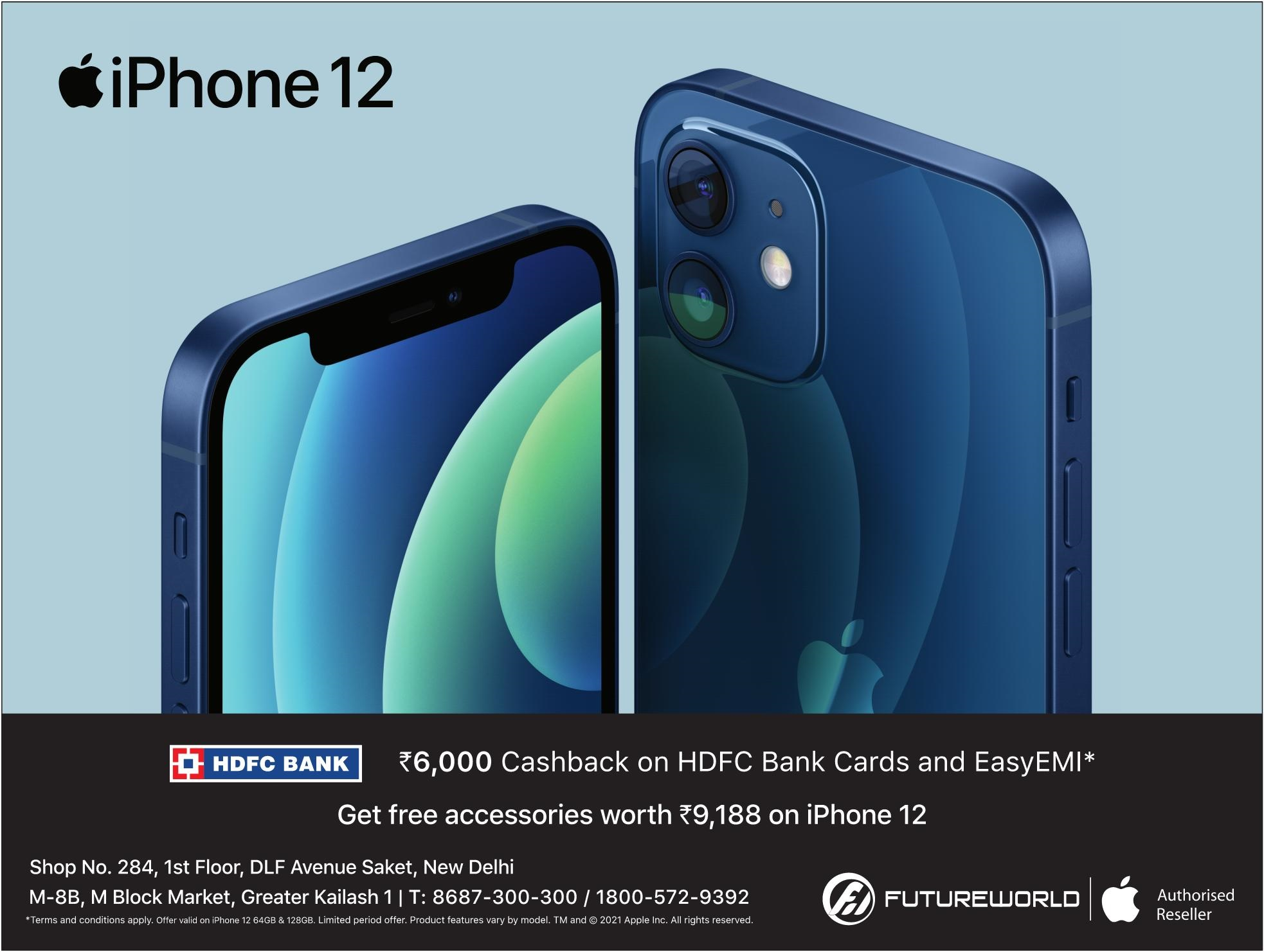 Apple | Rs6000 Cashback On Hdfc Bank Cards And EasyEMI