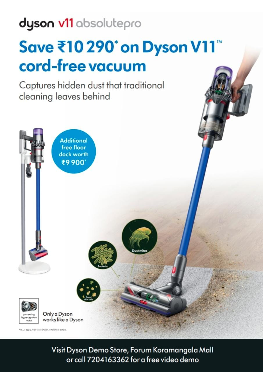 Dyson | Captures Hidden Dust That Traditional Cleaning Leaves Behind