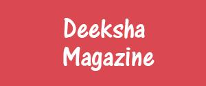 Advertising in Deeksha Magazine