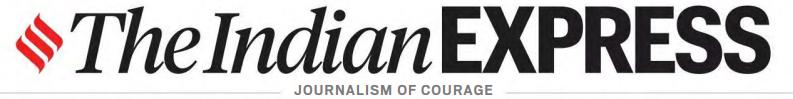 Advertising in The Indian Express, Mumbai, English Newspaper