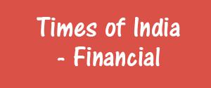Times Of India, Mumbai - Financial - Financial, Mumbai