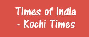 Advertising in Times Of India, Kochi - Kochi Times Newspaper