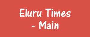 Advertising in Eluru Times, Eluru - Main Newspaper