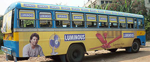 Advertising in Non AC Bus - Kolkata