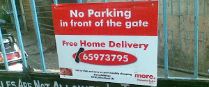 Advertising in No Parking Boards - Delhi