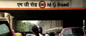 Advertising in Metro Station - MG Road, Gurgaon