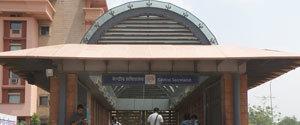 Advertising in Metro Station - Central Secretariat, Delhi