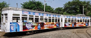 Advertising in Tram - Kolkata