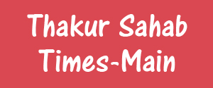 Advertising in Thakur Sahab Times, Dehradun - Main Newspaper