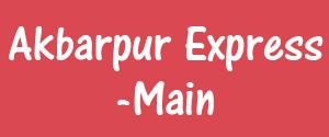 Advertising in Akbarpur Express, Manasnagar - Main Newspaper