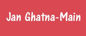 Advertising in Jan Ghatna, Rewa - Main Newspaper