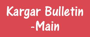 Advertising in Kargar Bulletin, Dehradun - Main Newspaper