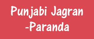 Punjabi Jagran, Punjab - Paranda - Paranda, Punjab