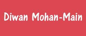 Advertising in Diwan Mohan, Main, Hindi Newspaper