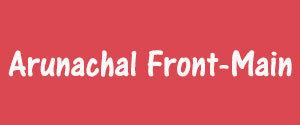 Advertising in Arunachal Front, Main, English Newspaper