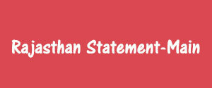 Advertising in Rajasthan Statement, Sikar - Main Newspaper