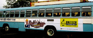 Advertising in Non AC Bus - West Bengal
