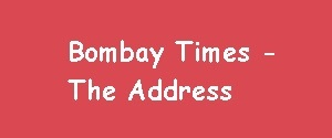 Advertising in Bombay times, The Address, English Newspaper