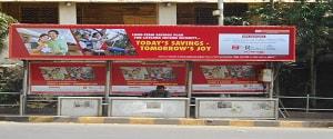 Advertising on Bus Shelter in Krishanaraj Society 17266