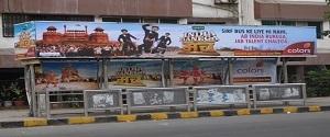 Advertising on Bus Shelter in Agar Bazar 22106