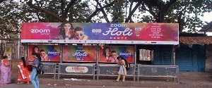 Advertising on Bus Shelter in Lower Parel 27853