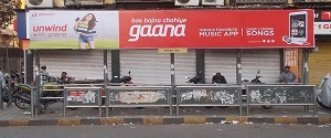 Advertising on Bus Shelter in Parel 27910