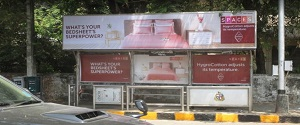 Advertising on Bus Shelter in Worli 28512