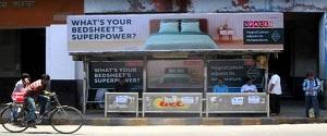 Advertising on Bus Shelter in Ballard Estate 28529