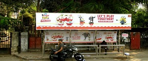 Advertising on Bus Shelter in Cuffe Parade 28566