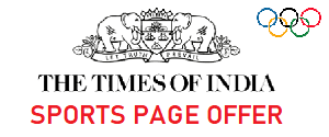 Times Of India, Olympic Sports Page Offer All Edition, English