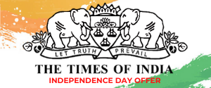 Times Of India, Independence Day Offer, English