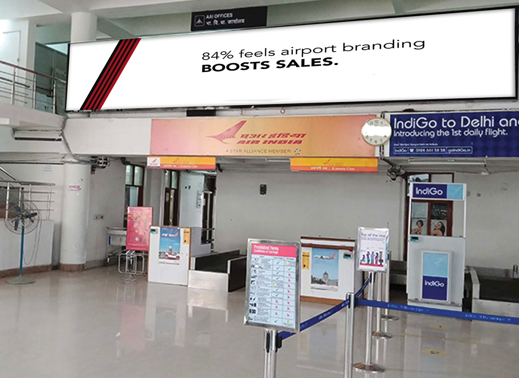 Back Lit Panel - 29 W x 5 H Ft - Above Air Asia Check-In Counter