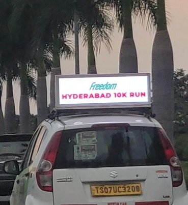 Cab - Hyderabad - Rooftop - Digital Display Advertising Option 1