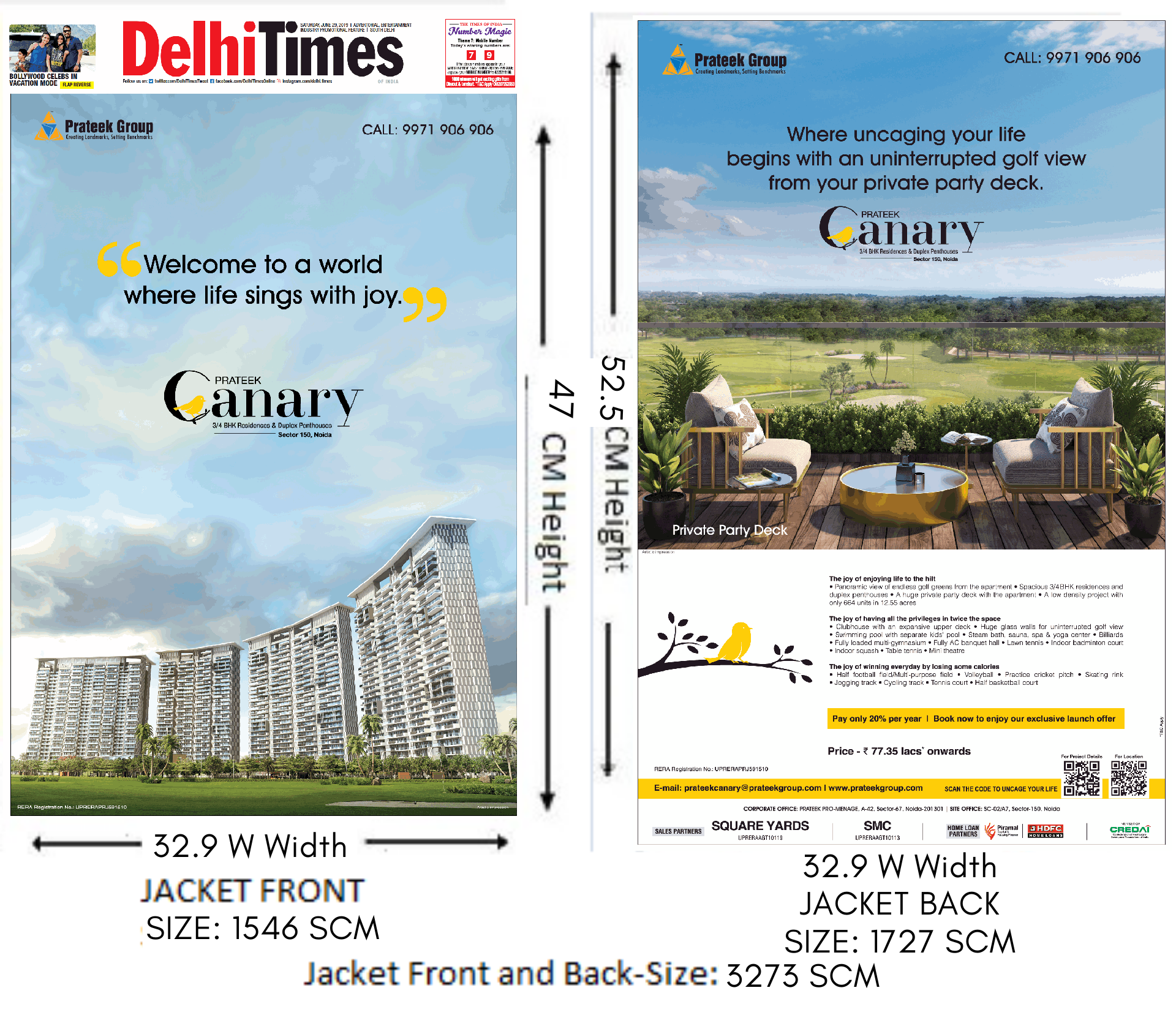 Times Of India, Delhi Times, English Newspaper - Jacket Advertising