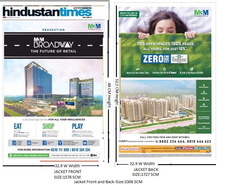 Hindustan Times Delhi Advertising-Jacket Advertising-Option 1