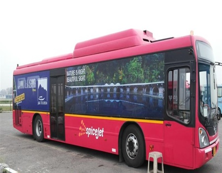 Mumbai Airport-Tarmac Coach Exterior Advertising
