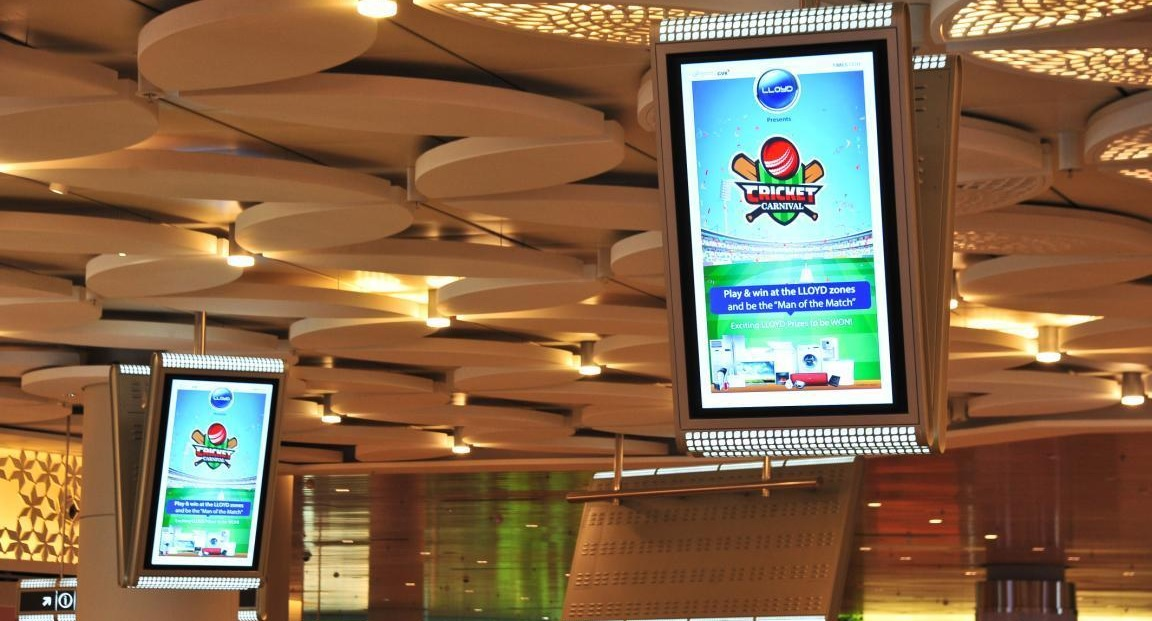Mumbai Airport-Digital Screens Advertising-T2- Domestic departure - 58 Screens Package - 55 Inches-Option 1