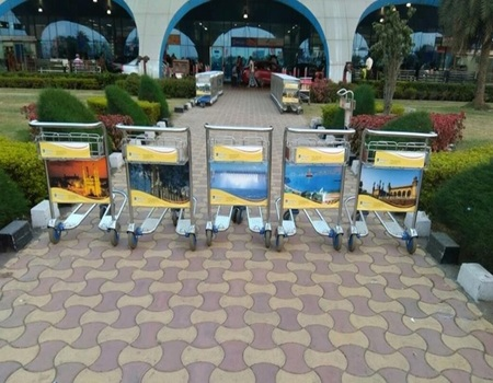 Goa Airport-Luggage Trolley Advertising