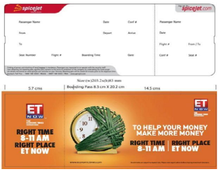 SpiceJet India Airlines-Boarding Pass Advertising-Option 1