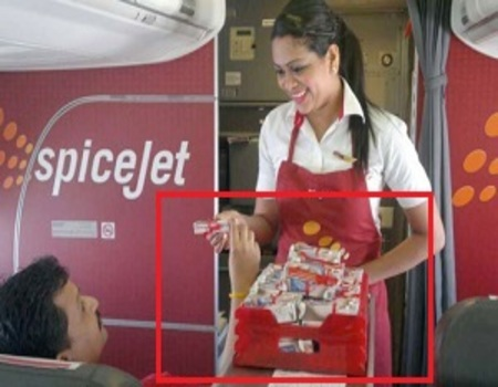 SpiceJet India Airlines-Inflight Sampling Advertising-Option 1