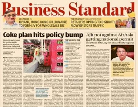IndiGo Airlines Domestic-Business Standard Newspaper Jacket Advertising-Option 1