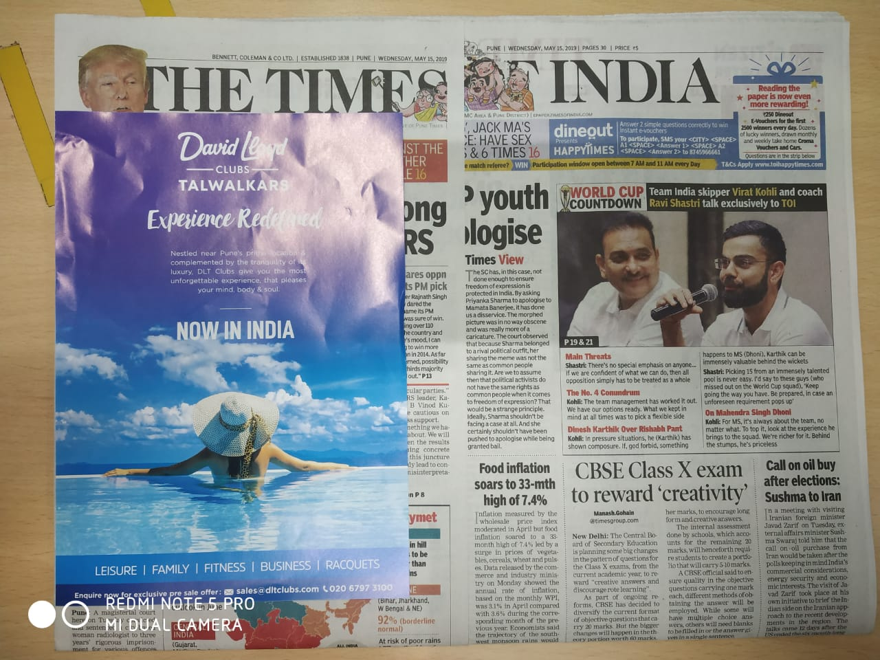 Ahmedabad Airport- Newspaper Stickers - Times Of India-Advertising