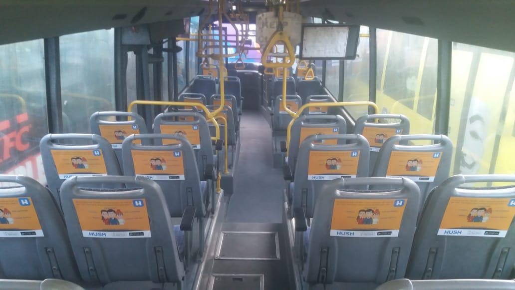 AC Bus - Bangalore-Full Bus - Interior Advertising-Passenger Seat Back-Option 1