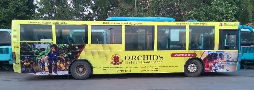 AC Bus - Bangalore-Full Bus - Exterior Advertising-Passenger Seat Back-Option 1