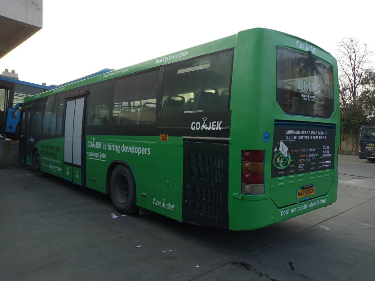 AC Bus - Bangalore- Full Bus Advertising-Option 1