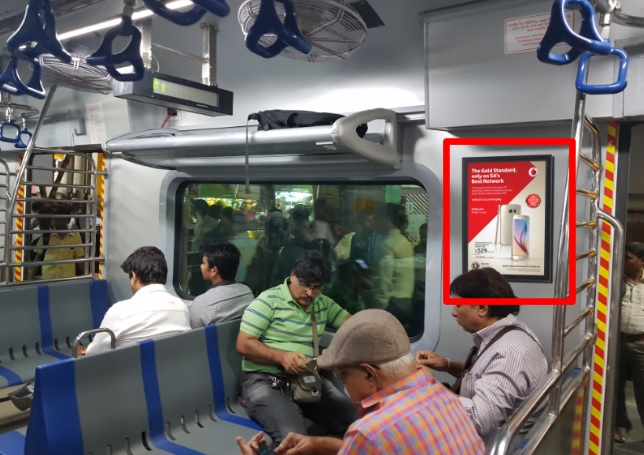 Local Train - Mumbai-Interior Panel Advertising-Western  Line-Option 1