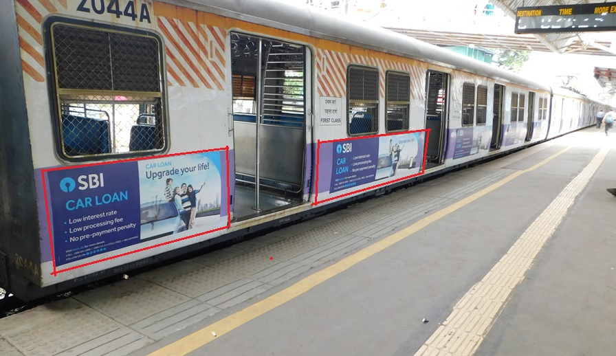 Local Train - Mumbai-Exterior Train Advertising-Option 1