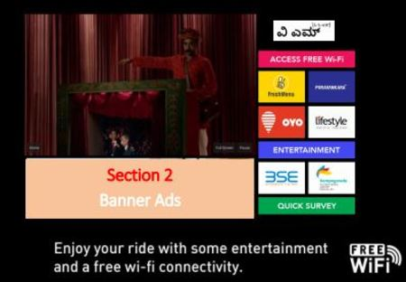 Cab - Bangalore - Airport Taxi - Digital Screens Advertising - Banner Ads